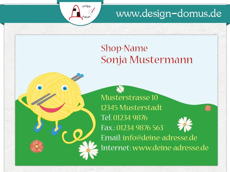 Visitenkarten Für Wollige Geschäfte Design Domus