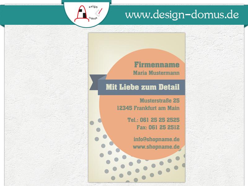 Visitenkarte Mit Motiv Retro Design Domus