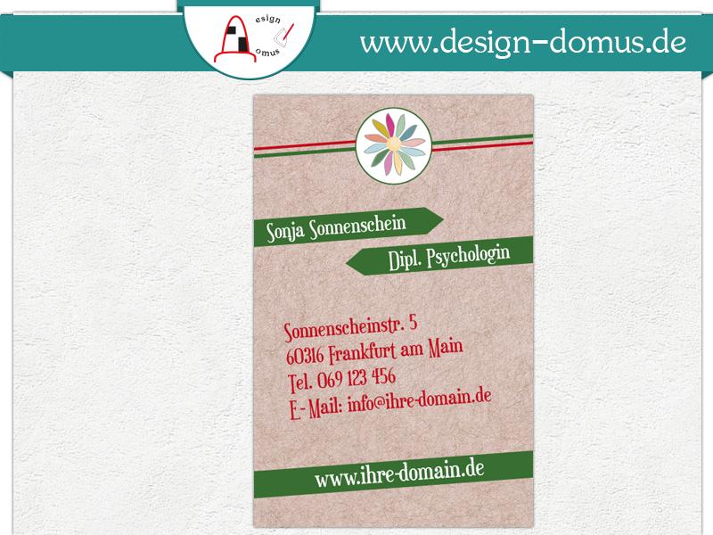 Visitenkarte Mit Motiv Blume 2 Design Domus